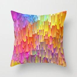 Vibrant Rainbow Cascade Design Throw Pillow