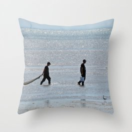 Searching through a Sea of Diamonds Throw Pillow