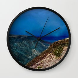 Storm at Sunset in Death Valley, California Wall Clock