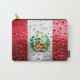 Flag of Peru - Raindrops Carry-All Pouch