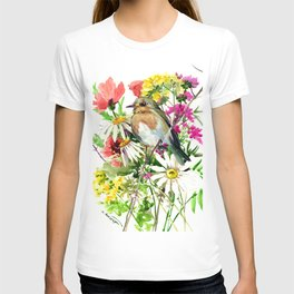 Robin Bird and Summer Colors T-shirt