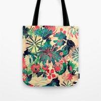jungle Tote Bags featuring Jungle by Demi Goutte