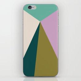 Purple Green Triangles iPhone Skin