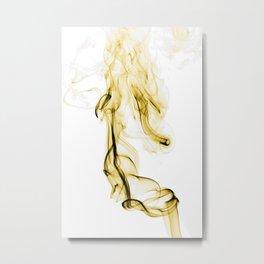 Smoke #8 -- Gold Metal Print