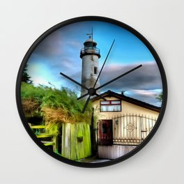 Hale Head Lighthouse (Painting) Wall Clock