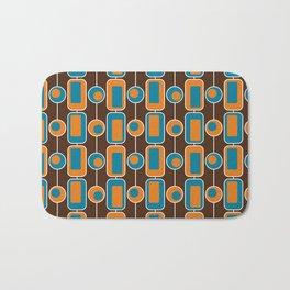Orange Square Bath Mat