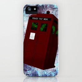 View From the Tardis Portal iPhone Case