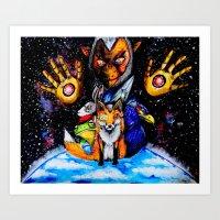 starfox Art Prints featuring STARFOX by Modern8bit