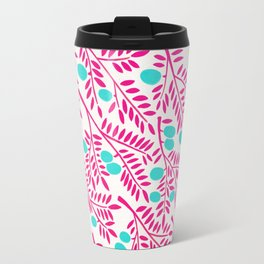 Olive Branches – Pink Ombré & Turquoise Travel Mug