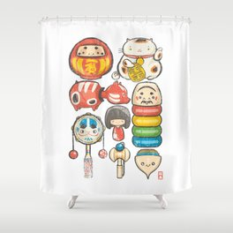 Special Lucky Toy Box Shower Curtain