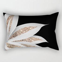 Agave Finesse Glitter Glam #6 #tropical #decor #art #society6 Rectangular Pillow