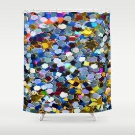 Glitter Stars Shower Curtain