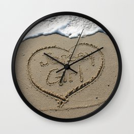 Jersey Girl on the Jersey Shore Wall Clock