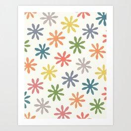 Stylized Flower Pattern 2 Art Print