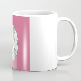 Elephant Face With Tropical Plants Design Coffee Mug
