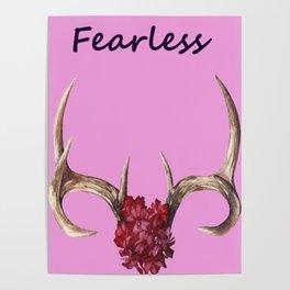 Fearless Vintage Print Pastels Poster