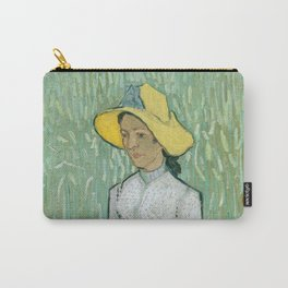 Vincent van Gogh Girl in White 1890 Painting Carry-All Pouch
