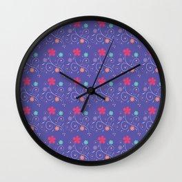 Lavender flourish Wall Clock