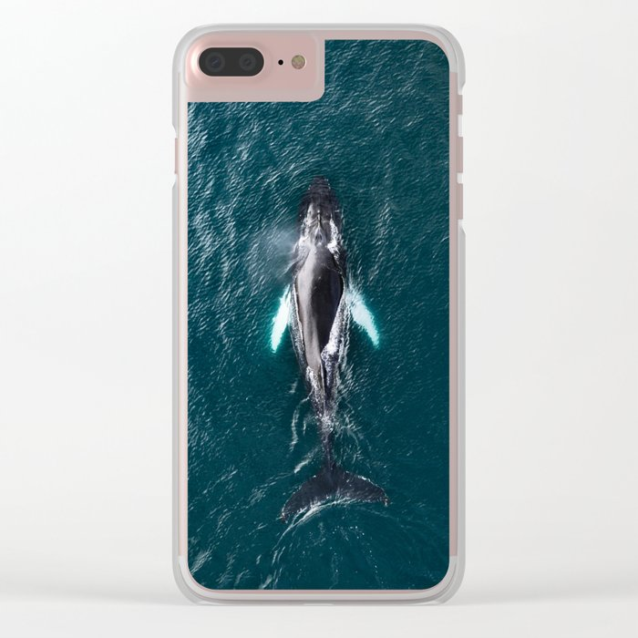 Humpback Whale in Iceland - Wildlife Photography Clear iPhone Case