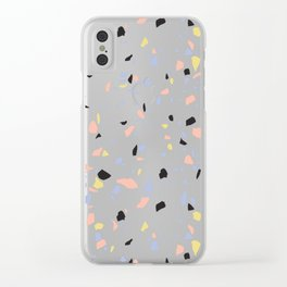Terrazzo Texture #4 Clear iPhone Case