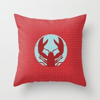 lobster Throw Pillows featuring Lobster by Mr and Mrs Quirynen