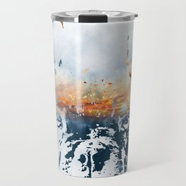 French bulldog and landscape abstract design Travel Mug