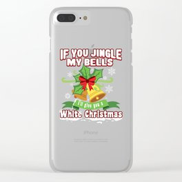 Christmas Festival Santa Gift for Winter Holidays Dark Light Clear iPhone Case