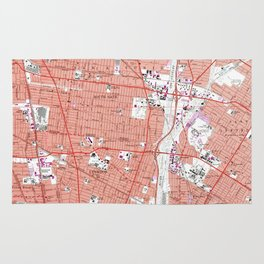 Vintage Map of South Gate California (1964) Rug