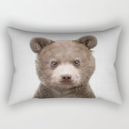 Baby Bear - Colorful Rectangular Pillow