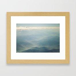 Foothills from on High Framed Art Print