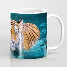 Tiger in Water Coffee Mug