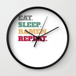 Funny Ramen Bowl  Wall Clock