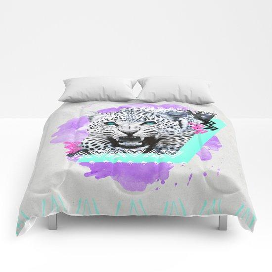 Fierce Leopard Comforters