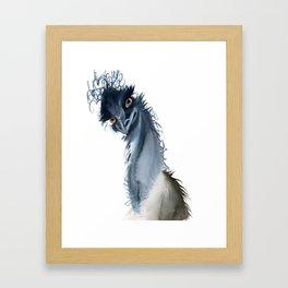 Funny ostrich Framed Art Print
