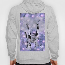 ELEPHANT AND LILAC PURPLE VIOLET BLOSSOMS Hoody