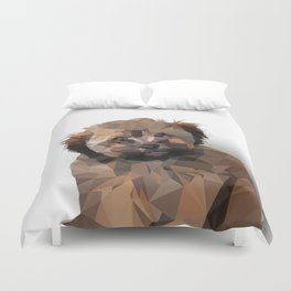 Cocoa, the puppy Duvet Cover