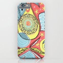 Retro doodles iPhone Case
