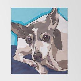 Jasmine Dog Throw Blanket