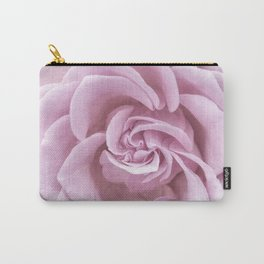Pink Heart of a rose Roses Flowers Carry-All Pouch