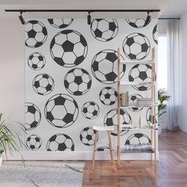 Soccer Balls Wall Mural