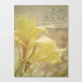 Yellow Canna Canvas Print