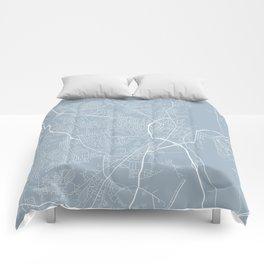 Fayetteville Map, USA - Slate Comforters