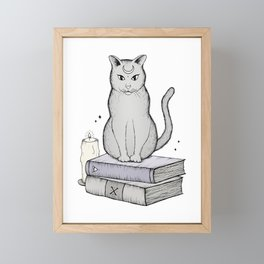 Witches Cat Framed Mini Art Print