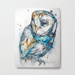 The Sea Glass Owl Metal Print