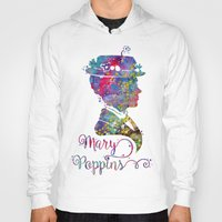 mary poppins Hoodies featuring Mary Poppins Portrait Silhouette by Bitter Moon