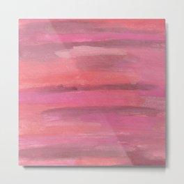 Pink Horizons Abstract Metal Print