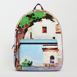 Borrello: man tree and bell tower Backpack