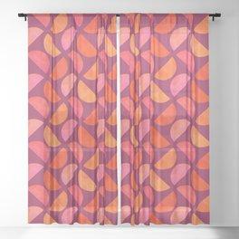SemiSpheres - Gelati (pattern) Sheer Curtain