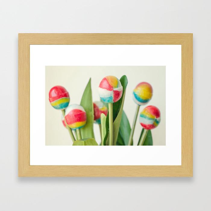 Lollipop Bouquet, Little Girl Room Decor, Wall Art Print Girl, Children  Room Print, Lollipop Image Framed Art Print