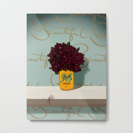 Jar of Flowers M, take two Metal Print